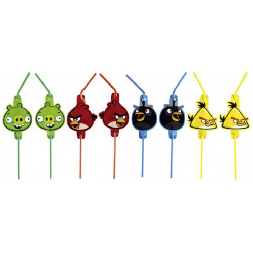 Pailles Angry Birds x8