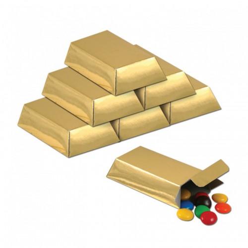 Boite à bonbons lingot d'or