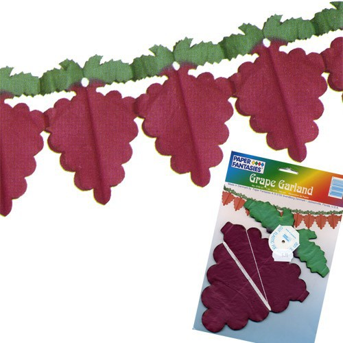 Guirlande grappe raisin rouge