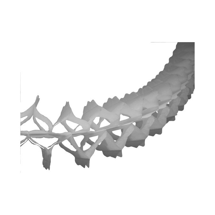 Guirlande papier blanche