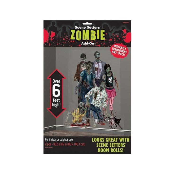 Deco murale Halloween Zombies