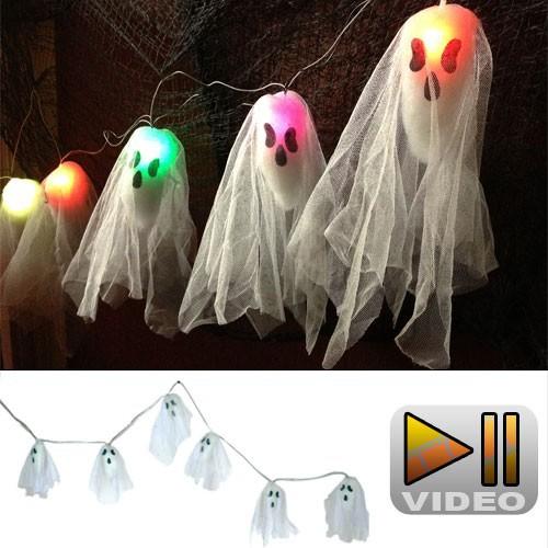 Guirlande fantômes lumineux