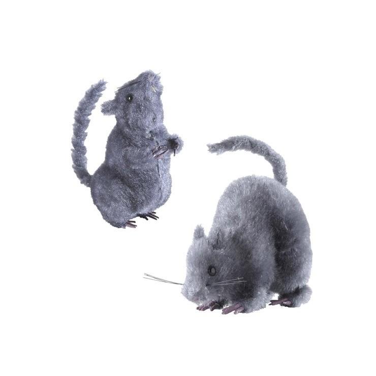 Rat gris 13 cm