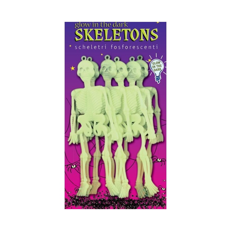 Squelettes phosphorescents 15 cm