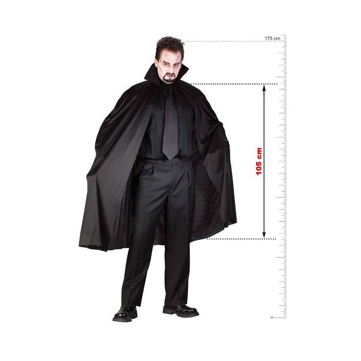 Cape noire & col 105 cm