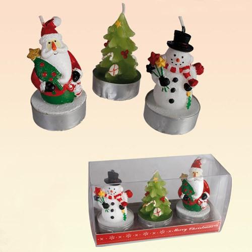 Bougies Noël x3