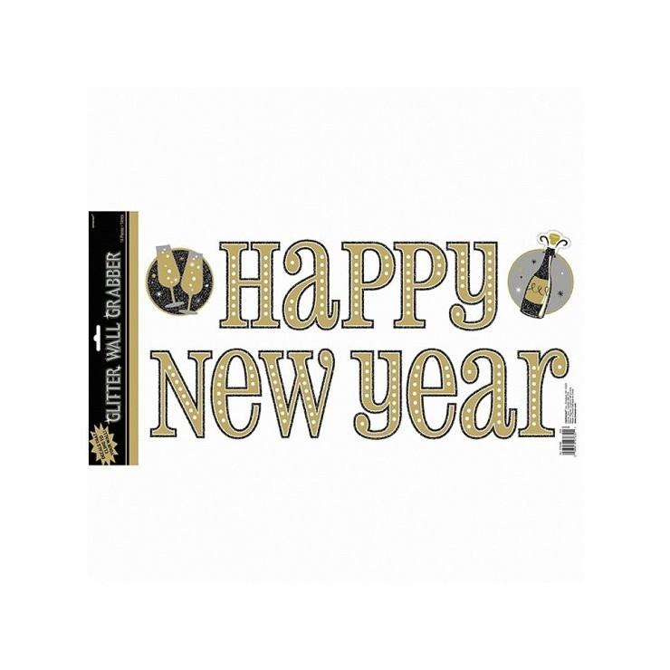 Inscription murale Happy Happy New Year