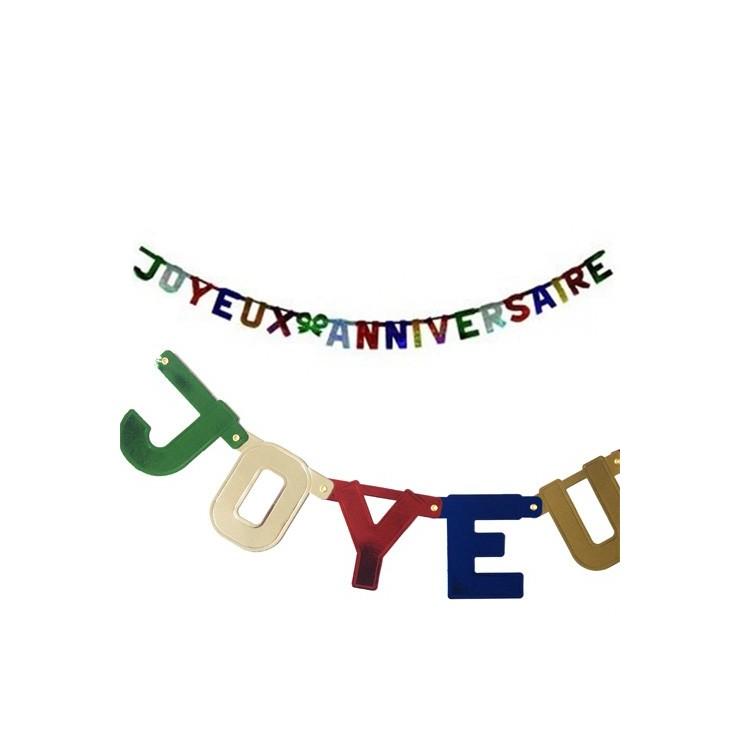 Guirlande lettres Joyeux Anniversaire