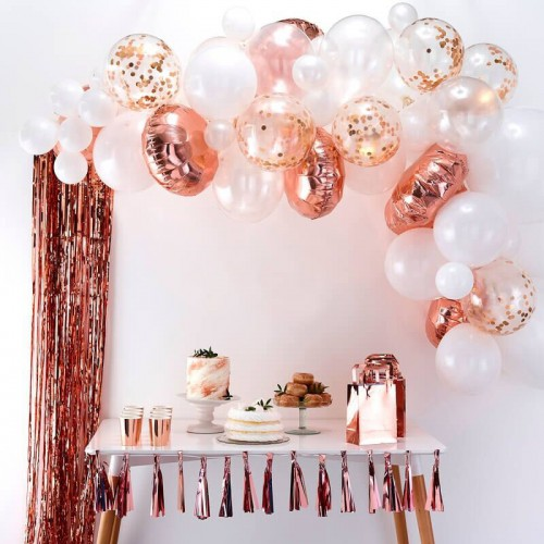Kit arche de ballons rose gold