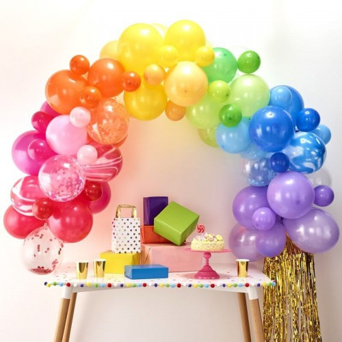 kit arche de ballons rainbow