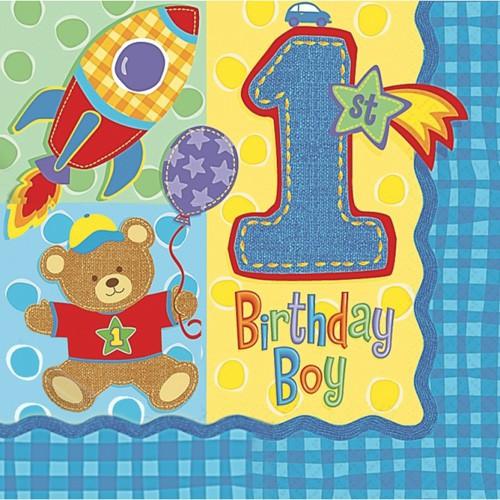 Serviettes anniversaire 1 an