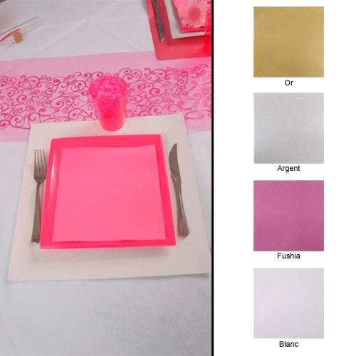 Set de table carré pailleté x2