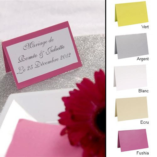 Marque places mariage x10