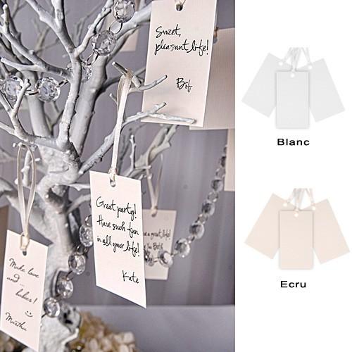 Etiquettes avec ruban x10