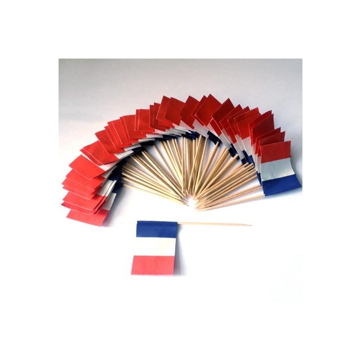 Drapeaux de table France x50