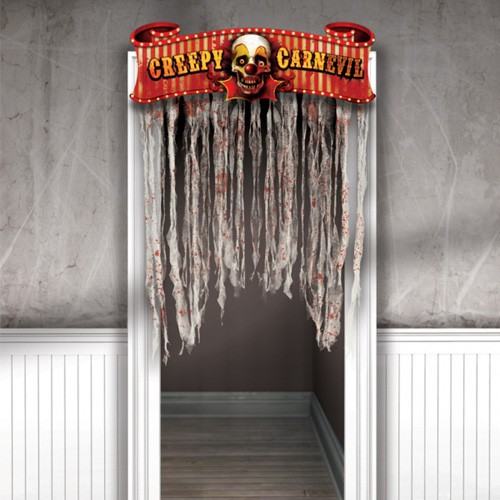Creepy circus - rideau de porte