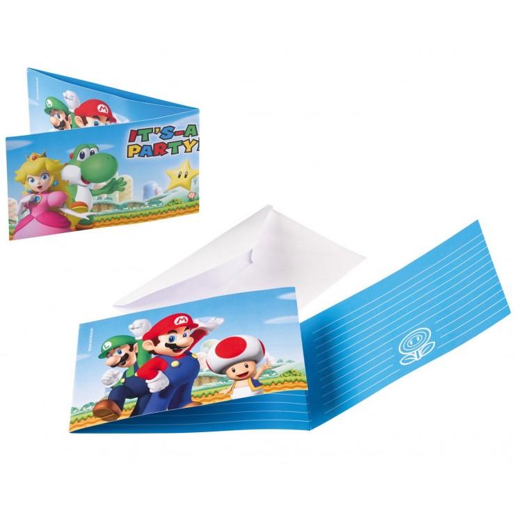 Invitations super Mario x8