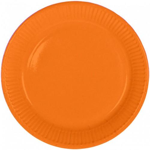 Assiettes orange x8