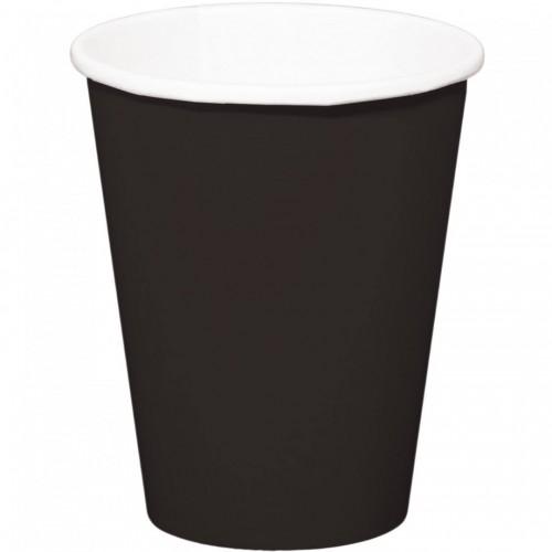 Gobelets noirs x8