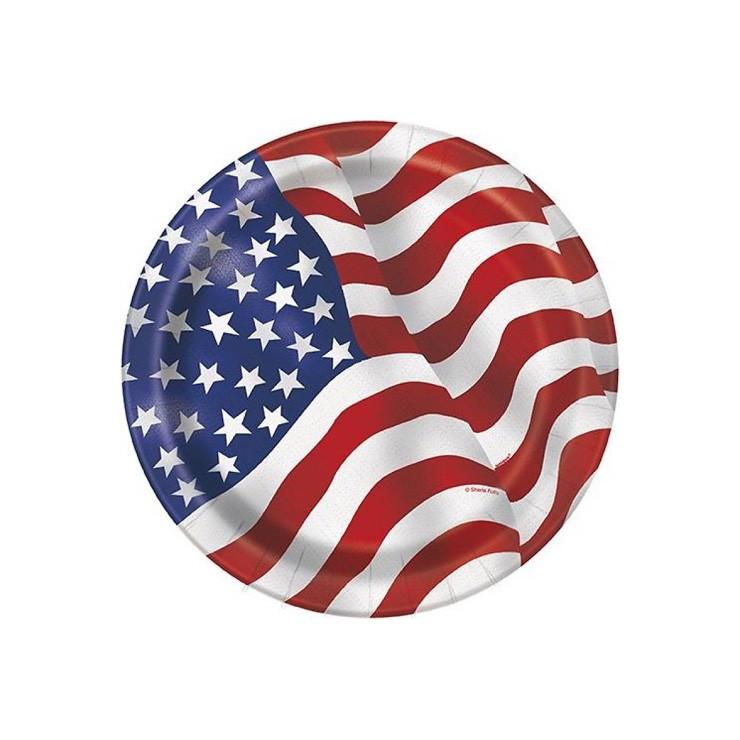 Assiettes USA 17.1 cm