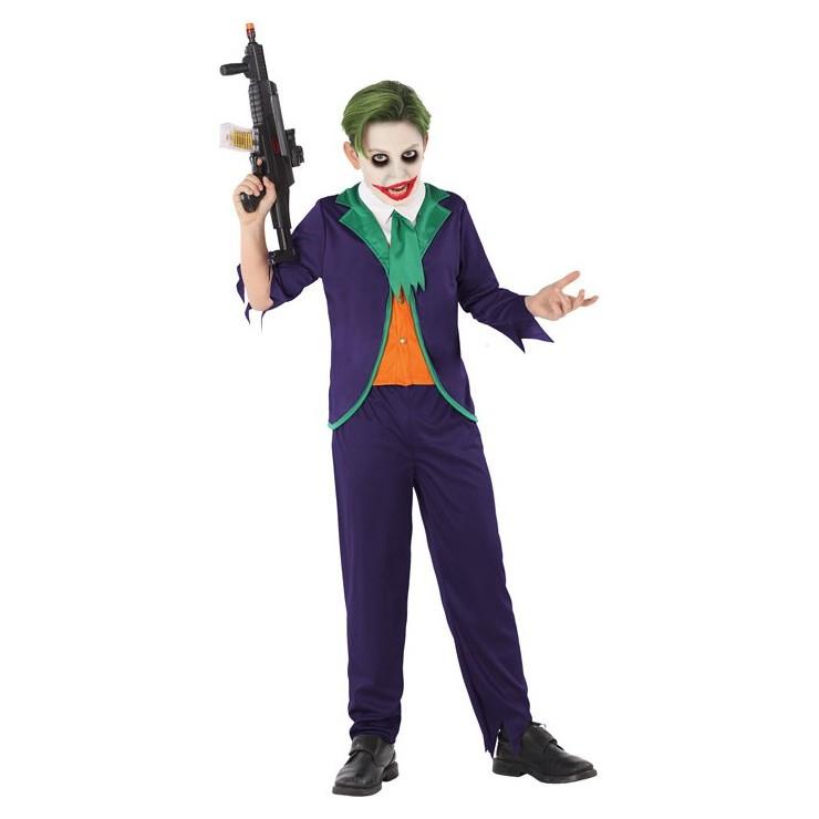 Déguisement clown violet et vert enfant