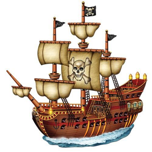 Décoration bateau pirate