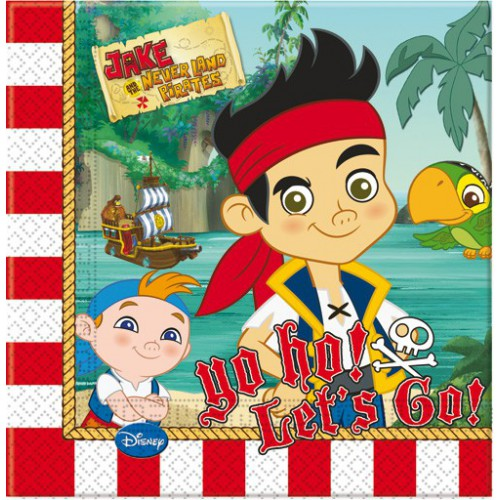 Serviettes Jake & les pirates x20