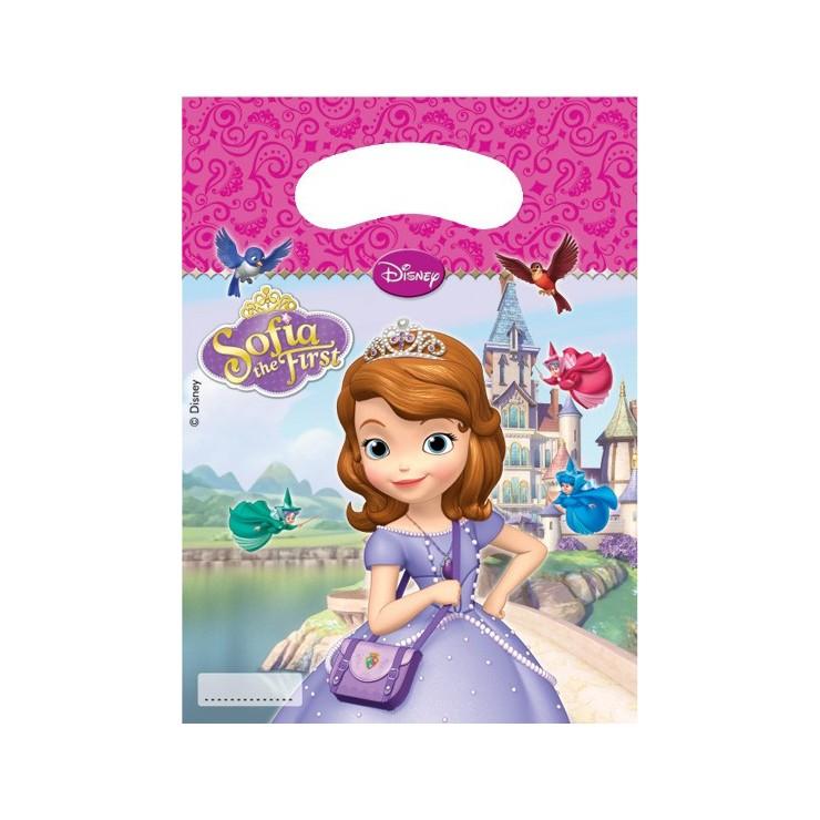 Sacs à cadeaux Princesse Sofia x6