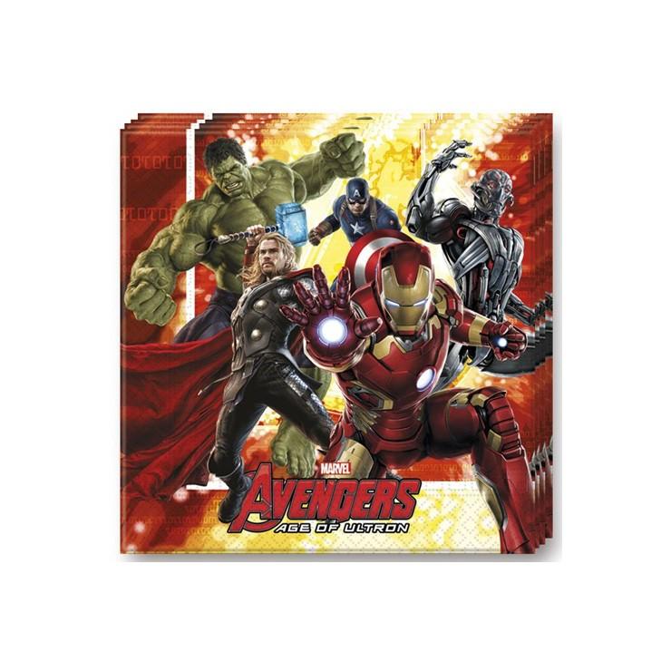 Serviettes Avengers x20