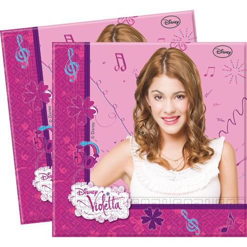 Serviettes Violetta x20