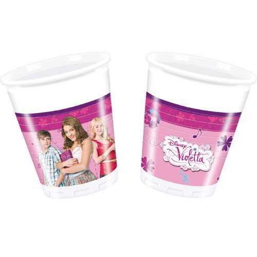 Gobelets Violetta x8