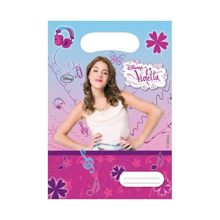 Sacs à cadeaux Violetta x6