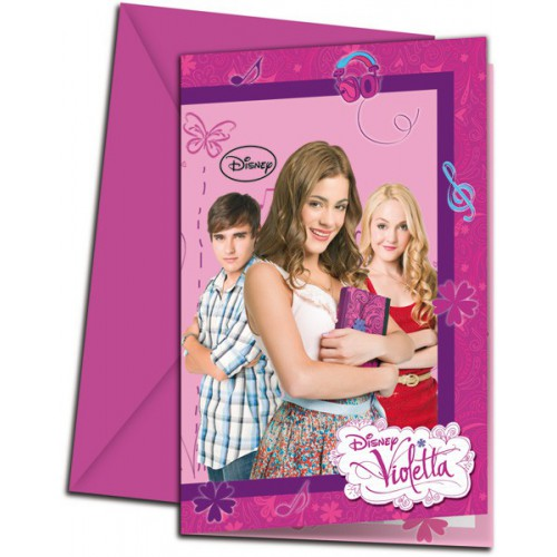 Invitations Violetta x6