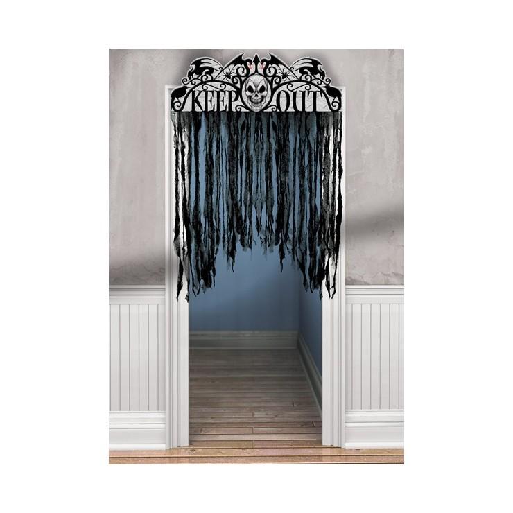 Rideau de porte keep out gothique