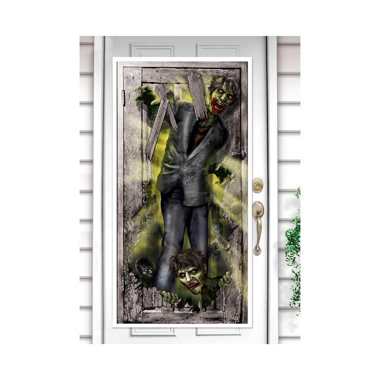 Déco de porte Zombie invasion