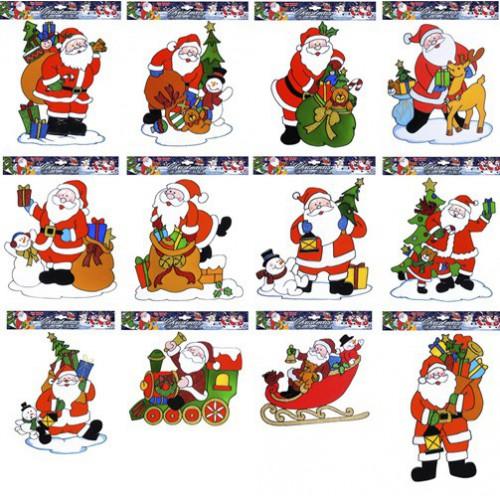 Décoration de vitre Père Noël 30 cm