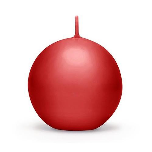 Bougie sphere rouge 6 cm