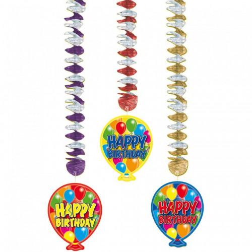 Suspensions Happy birthday ballon