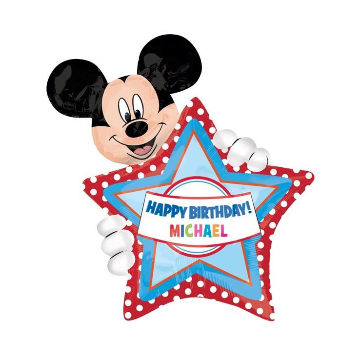 Ballon anniversaire Mickey à personnaliser