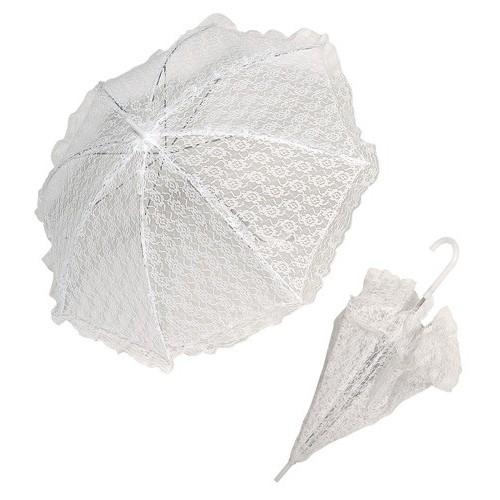 Ombrelle dentelle blanche 83 cm