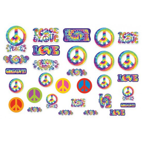 Découpages Hippies 60's x30