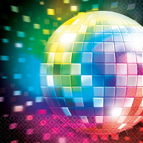 Serviettes disco fever x16