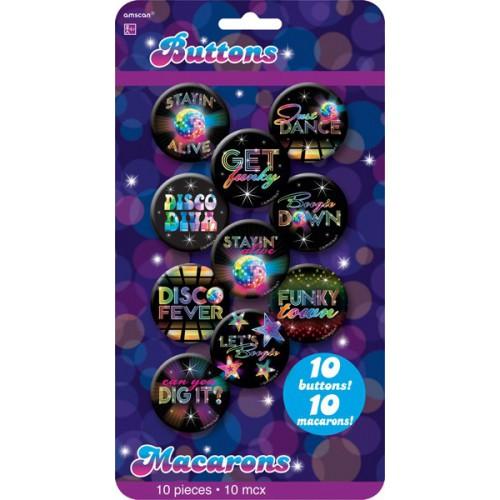 Badges Disco fever x10