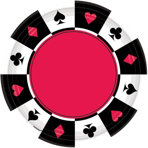 Assiettes Poker x8