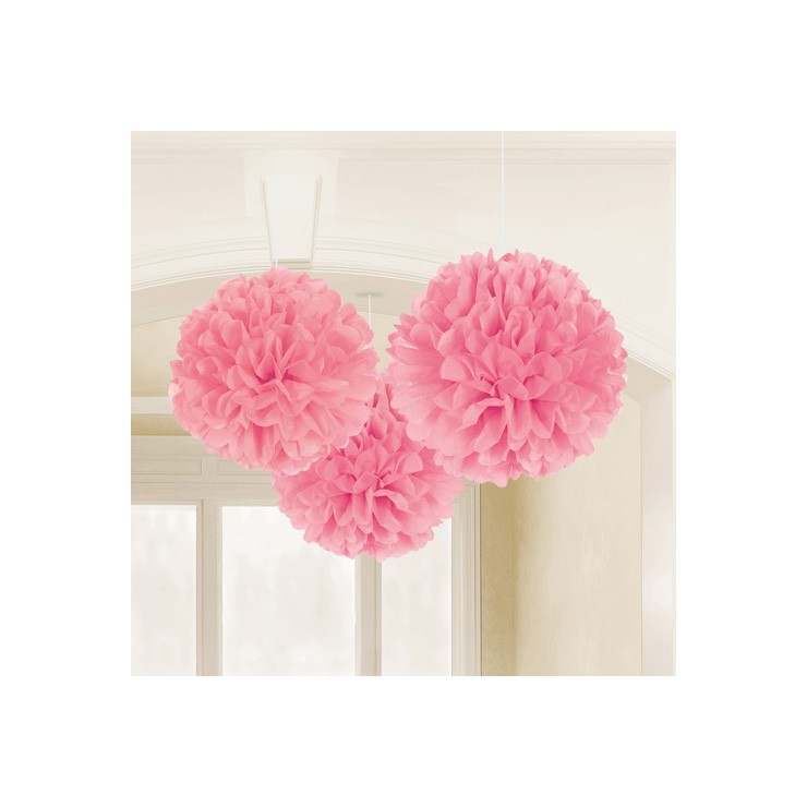 Fluffy ball rose pastel 40,6 cm x3
