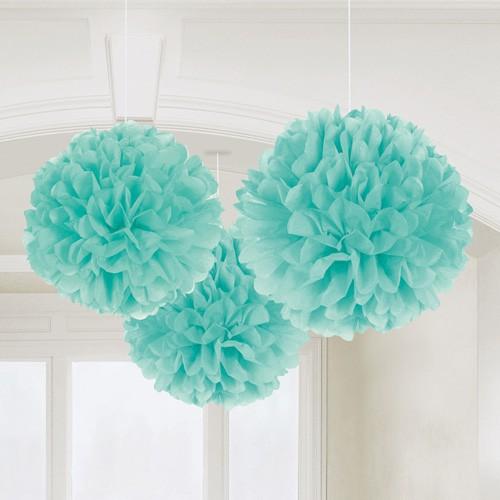 Fluffy ball bleu pastel x3