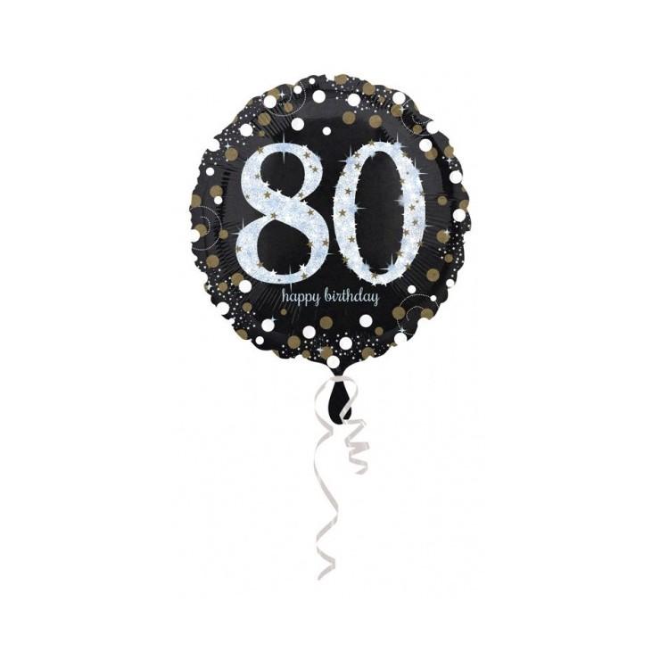 Ballon holographique 80 ans