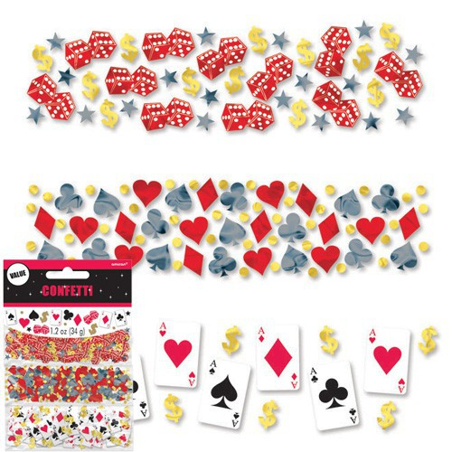 Confettis de table casino 3 packs