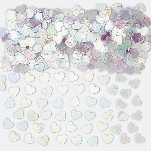 Confettis cœurs iridescents