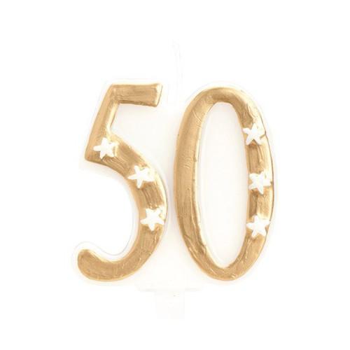 Bougie 50 dorée